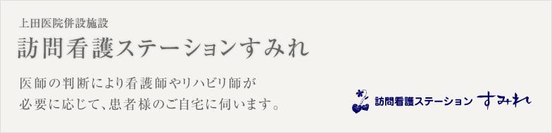 上田医院併設施設 訪問看護ステーションすみれ 医師の判断により看護師やリハビリ師が必要に応じて、患者様のご自宅に伺います。